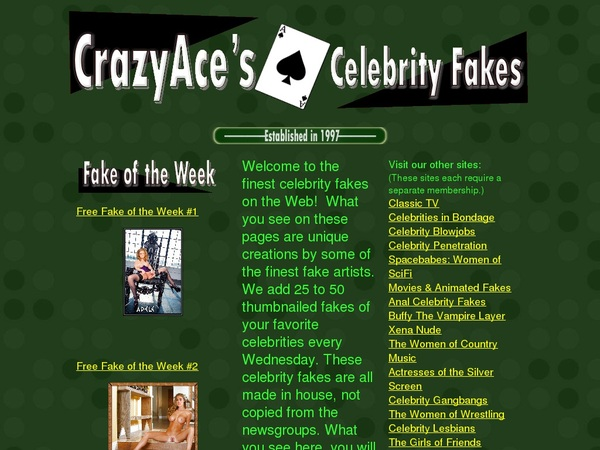 Accounts Of CrazyAces Celebrity Fakes