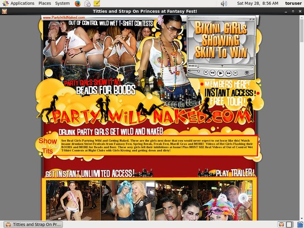 Partywildnaked.com Cuentas Gratis