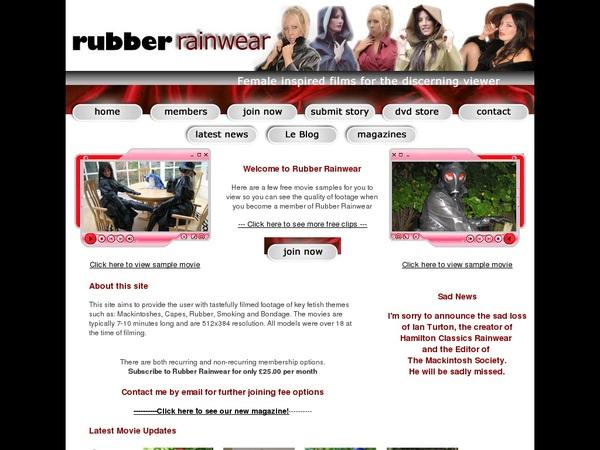 Rubber Rainwear Premium Acc