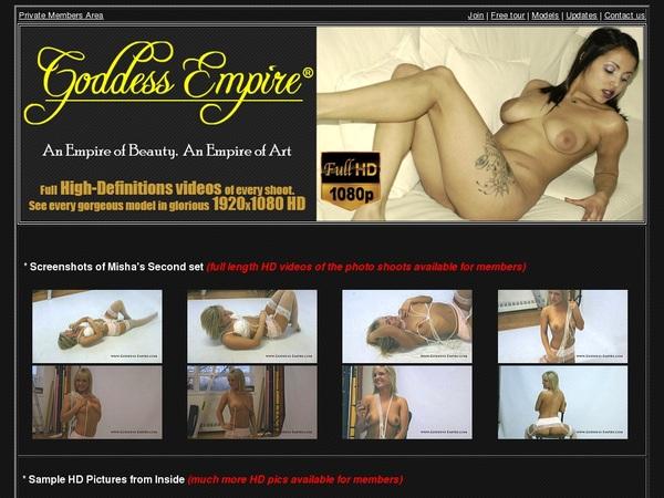 Accounts On Goddess Empire