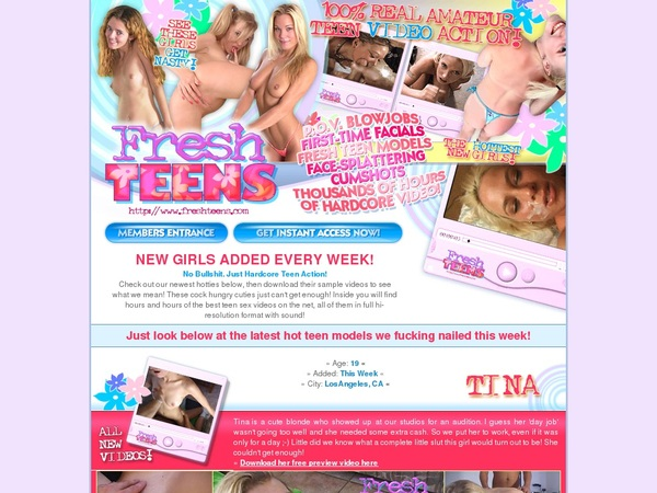 Fresh Teens With Gift Card