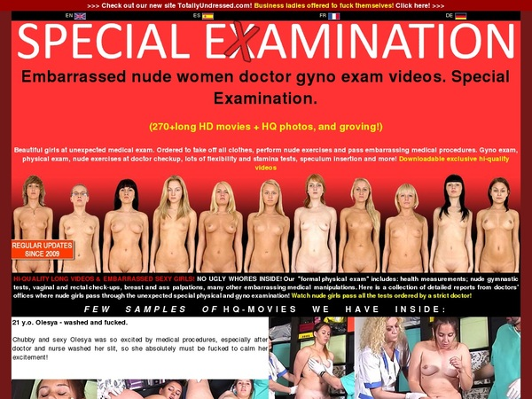 Special Examination Pay Site